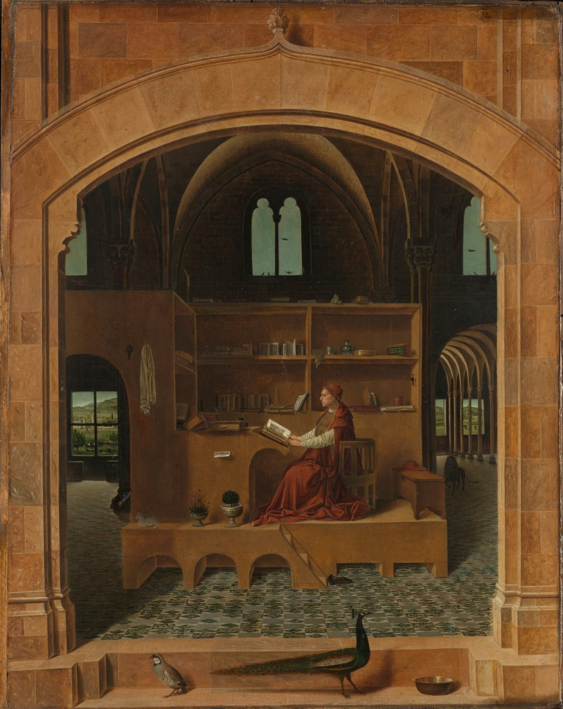 ANTONELLO DA MESSINA - SAINT JEROME IN HIS STUDY (c. 1475), © THE NATIONAL GALLERY, LONDON
