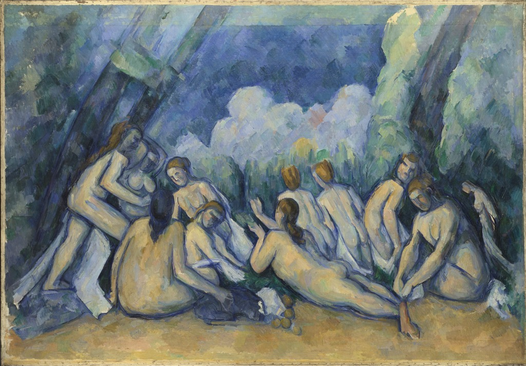 PAUL CÉZANNE - BATHERS (LES GRANDES BAIGNEUSES) (c. 1894 - 1905), © THE NATIONAL GALLERY, LONDON